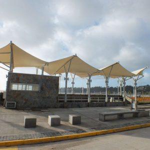 Tensoestructura Parque de Mitigación Borde Costero Dichato