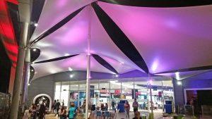 Velas de Sombra Terraza Mall Coquimbo.