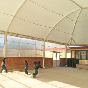 Cubierta tensada Escuela Rotario Bravo